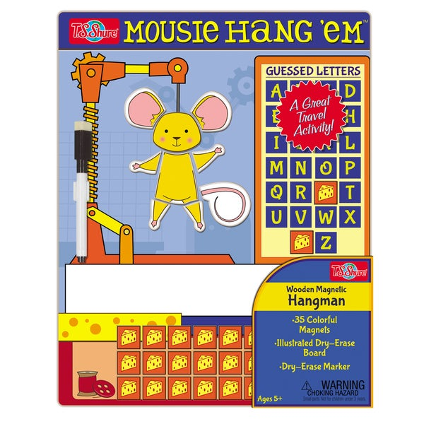 T.S. Shure Hang Em Mouse Wooden Magnetic Hangman Game