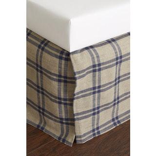 Neil Blue Linen Bed Skirt