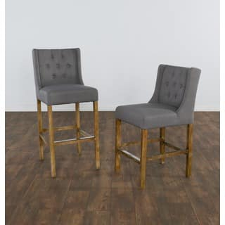 Cayle Grey Tufted Upholstered 30-inch Barstool by Kosas Home https://ak1.ostkcdn.com/images/products/11902228/P18795834.jpg?impolicy=medium