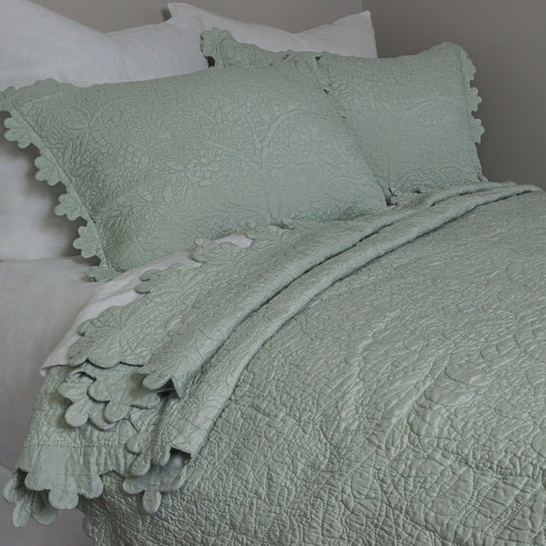 Aleah Aqua Poly Silk Quilt - On Sale - Free Shipping Today ... : silk quilts for sale - Adamdwight.com