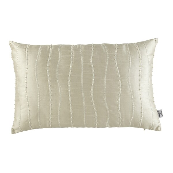 Shop Offwhite Polyester Embroidered Creamy Pearls Decorative Pillow Delectable Overstock Decorative Pillows