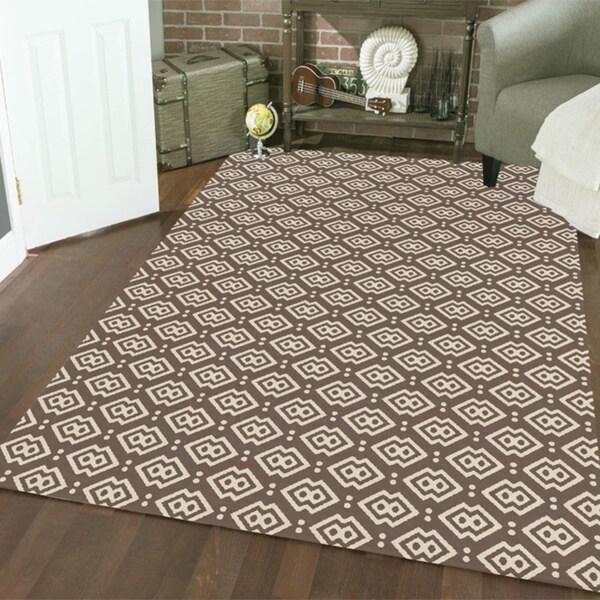 Admire Home Living Bronte Disc Dark Beige Area Rug (7'10 x 10'6)