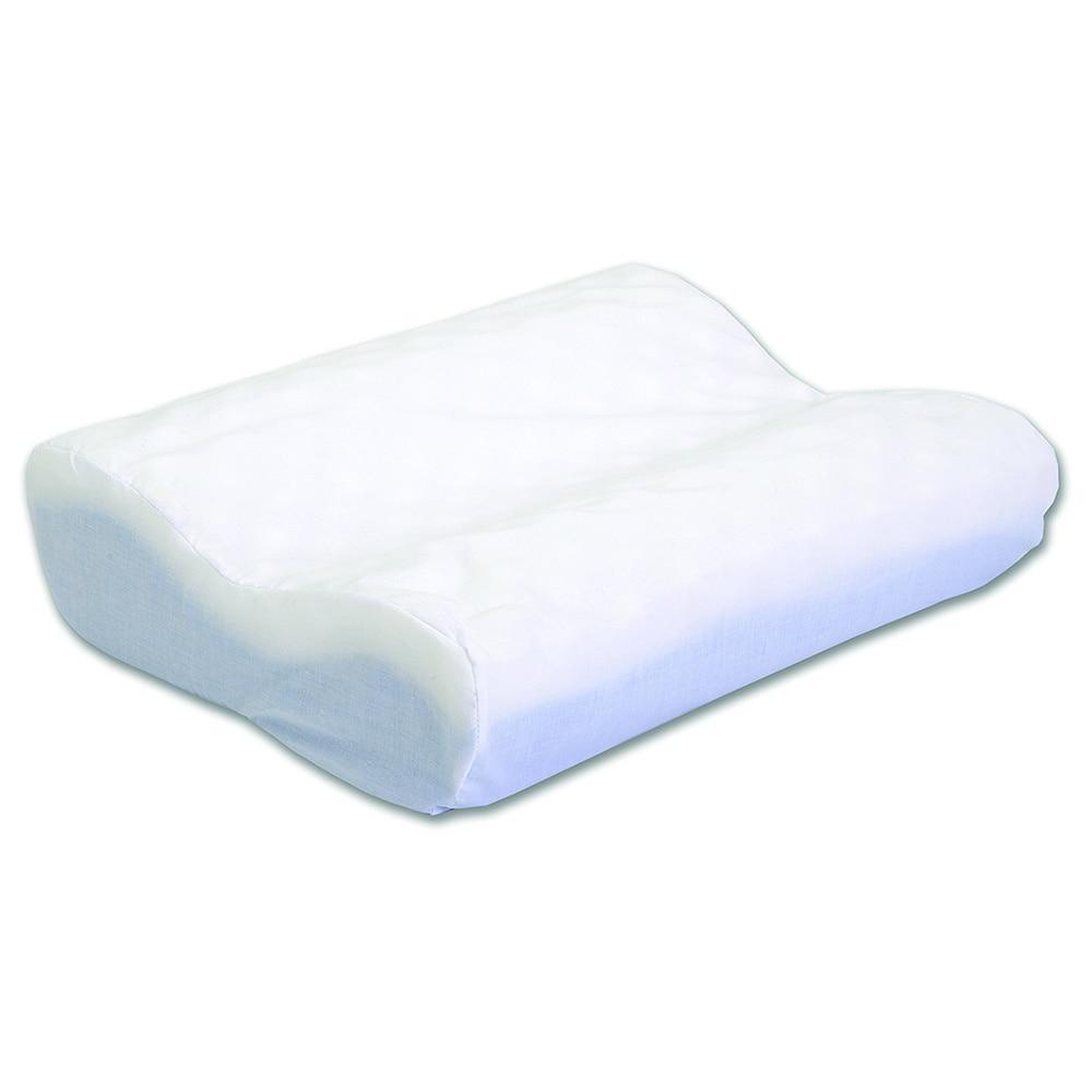 Hermell Eggcrate Neck Pain Contour Pillow, White