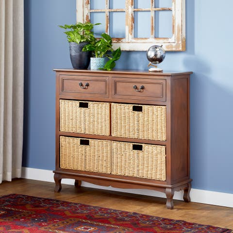 Brilliant Wood Sea Grass Brown Dresser