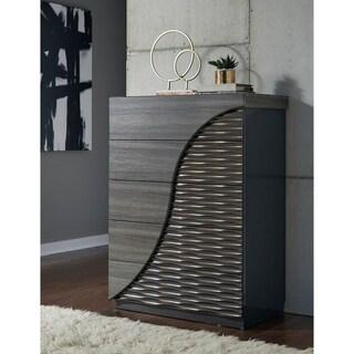 Global Zebra Wood/ Gold Line Dresser