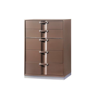 Global High Gloss Light Brown Chest