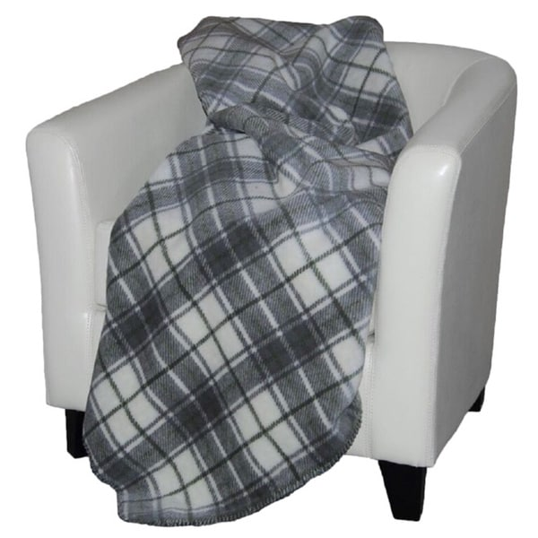 Denali Tartan Plaid Sterling/ Sage Throw Blanket