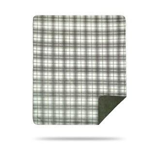 Denali Tartan Plaid Sterling/ Sage Throw Blanket