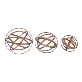 Gold-colored Metal Table Decor (Set Of 3)