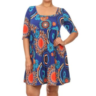 MOA Collection Plus-size Women's Relaxed-fit Short Dress