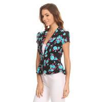 MOA Collection Women's Floral Blazer Jacket