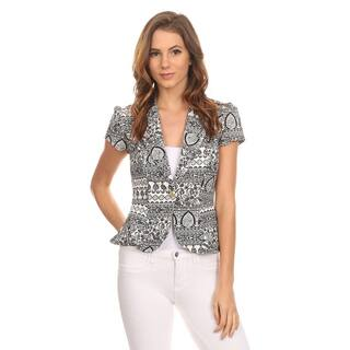 MOA Collection Women's Black Print Blazer Jacket|https://ak1.ostkcdn.com/images/products/11902537/P18796071.jpg?impolicy=medium
