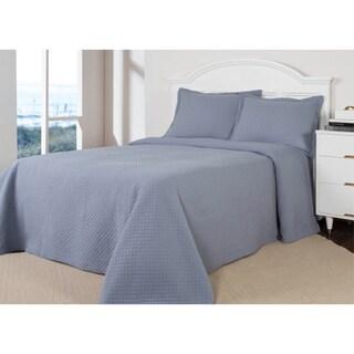 Diamond Quilted Cotton 3-piece Quilt Set