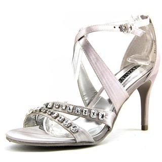 Kenneth Cole Reaction Women's Pin Party Silver Satin Sandals