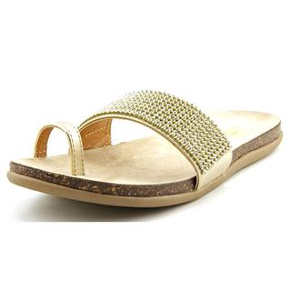 Kenneth Cole Reaction Women's Slim N Trim SO Gold Synthetic Slide Sandals