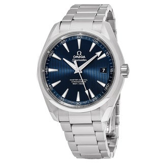 Omega Men's 23110392103002 'Sea master 150' Blue Dial Stainless Steel AquaTerra Swiss Automatic Watch