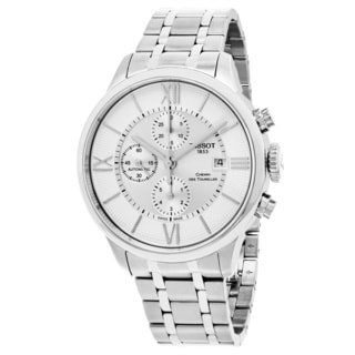 Tissot Men's T0994271103800 'Chemin des Tourelles' Silver Dial Stainless Steel Swiss Automatic Watch
