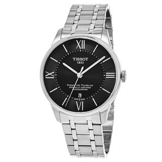 Tissot Men's T0994081105800 'T-Classic' Black Dial Stainless Steel Swiss Automatic Watch