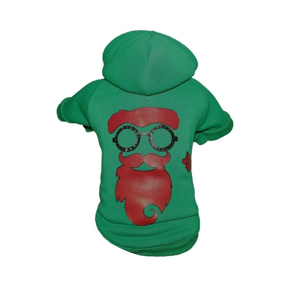 Petlife LED Santa Shades Dog Sweater (Extra Small), Green