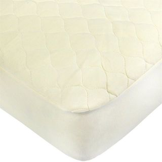 American Baby Company White Cotton Quilted Portable Crib Pad Cover