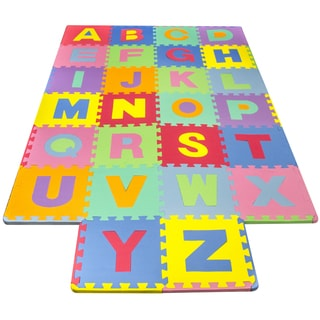 Multicolored Foam 26-piece Floor Alphabet Puzzle Mat for Kids
