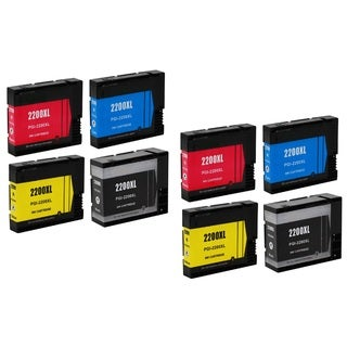 PGI-2200 2200XL Ink Cartridge Use for Canon Maxify IB4020 MB5020 MB5320 Series Printer (Pack of 8)