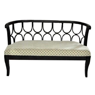 Exquisite And Royal Wood Metal Bench By Entrada