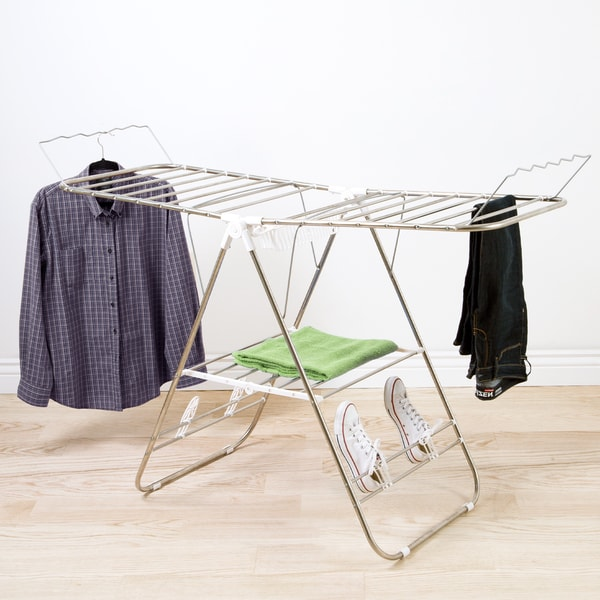 Shop Everyday Home Chrome Deluxe Folding Gullwing Drying