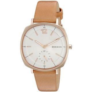 Skagen Women's SKW2418 'Rungsted' Brown Leather Watch