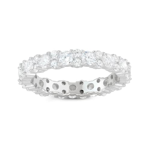 Gioelli Sterling Silver Cubic Zirconia Band Ring