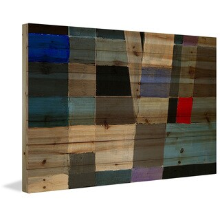 Marmont Hill 'Deeper Dimension' Painting Print on Natural Pine Wood