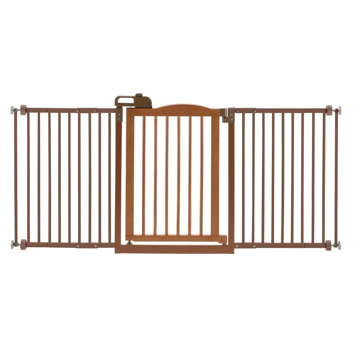 Richell One-Touch Wide Pressure Mounted Dog Gate II (Brown)
