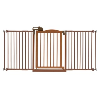 Richell One-Touch Wide Pressure Mounted Dog Gate II (Option: Brown)