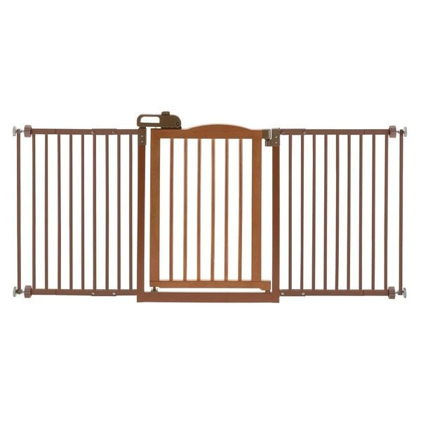 Shop Richell One Touch Wide Pressure Mounted Dog Gate Ii
