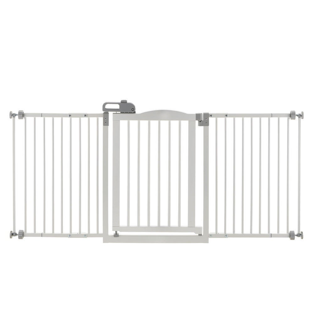 Richell One-Touch Wide Pressure Mounted Dog Gate II (White)