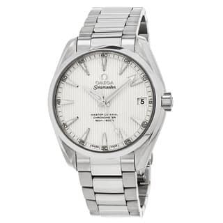 Omega Men's 2311042210203 'Sea master 150' Silver Dial Stainless Steel Aqua Terra Swiss Automatic Watch|https://ak1.ostkcdn.com/images/products/11903050/P18796479.jpg?impolicy=medium