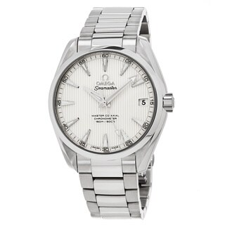 Omega Men's 2311042210203 'Sea master 150' Silver Dial Stainless Steel Aqua Terra Swiss Automatic Watch