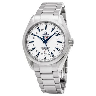 Omega Men's 23190432204001 'Sea master 150' White Dial Stainless Steel GMT Swiss Automatic Watch