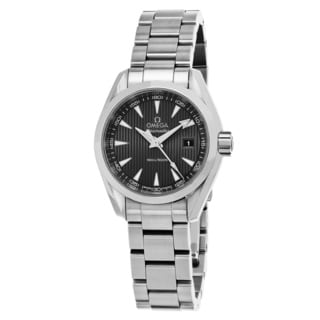 Omega Women's 23110306006001 'Sea master AquaTerra' Grey Dial Stainless Steel Swiss Quartz Watch