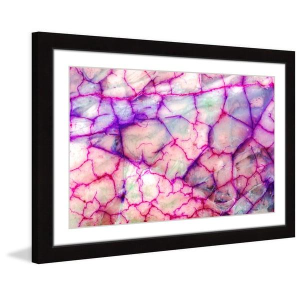 Marmont Hill 'Pink Veins' Framed Art Print