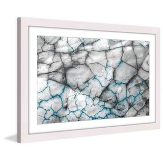 Marmont Hill 'Blue Veins' Framed Art Print