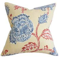 Parthenia Floral Throw Pillow Cover