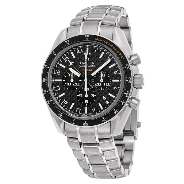 Omega Men's 'Speedmaster Broad Arrow' Black Dial Titanium Chronograph Swiss Automatic Watch
