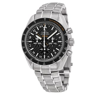 Omega Men's 321.904.45.201.001 'Speedmaster Broad Arrow' Black Dial Titanium Chronograph Swiss Automatic Watch