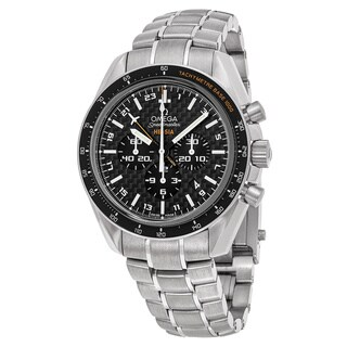 Omega Men's 321.904.45.201.001 'Speedmaster Broad Arrow' Black Dial Titanium Chronograph Swiss Automatic Watch