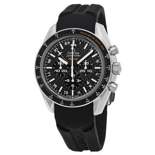 Omega Men's 321.924.45.201.001 'Speedmaster Broad Arrow' Swiss Automatic Watch with Black Dial, and Black Rubber Strap|https://ak1.ostkcdn.com/images/products/11903129/P18796538.jpg?impolicy=medium
