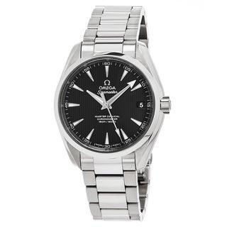 Omega Men's 23110392101002 'Sea master 150' Black Dial Stainless Steel AquaTerra Swiss Automatic Watch