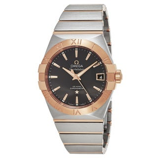 Omega Men's 123.203.82.106.002 'Constellation' Grey Dial Stainless Steel/Rose Gold Co-Axial Swiss Automatic Watch