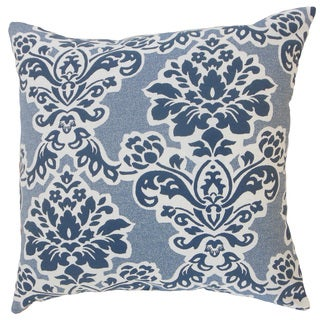 Uvatera Damask Throw Pillow Cover Cobalt