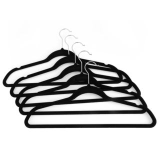 Seville Classics Black Velvet-covered Metal Suit Hangers (40 Pack)